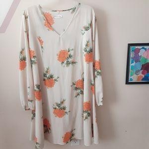 Southern Stitch Long Sleeve Floral Dress